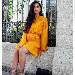 NWT Zara Mustard Yellow Shift Dress